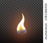 realistic candlelight fire... | Shutterstock . vector #1381386920