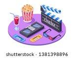 3d isometric equipment with... | Shutterstock .eps vector #1381398896