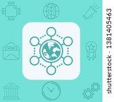 network vector icon sign symbol | Shutterstock .eps vector #1381405463