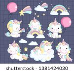 a vector collection of many... | Shutterstock .eps vector #1381424030