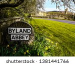 View Of Byland Abbey In...