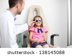 Young Girl At The Optometrist ...