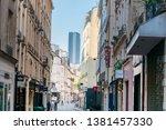 paris  france   april 22  2019  ... | Shutterstock . vector #1381457330