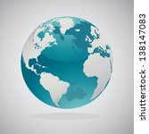 world globe maps | Shutterstock .eps vector #138147083
