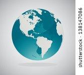 world globe | Shutterstock .eps vector #138147086