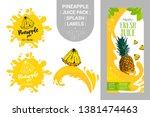 Cartoon Pineapple On Juice...