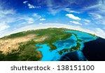 japan and korea landscape from... | Shutterstock . vector #138151100