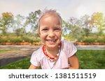 pretty little european girl...   Shutterstock . vector #1381511519