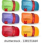 web banners set | Shutterstock .eps vector #138151664