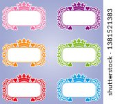 crown frame vector drawing... | Shutterstock .eps vector #1381521383