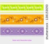 vector set of decorative strips | Shutterstock .eps vector #138153050
