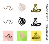 vector design of mammal and... | Shutterstock .eps vector #1381530989