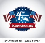 independence day illustration... | Shutterstock .eps vector #138154964