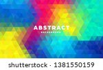 triangle polygonal abstract... | Shutterstock .eps vector #1381550159