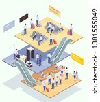 Airport Isometric Composition...