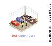car dealership concept with car ...   Shutterstock .eps vector #1381555976