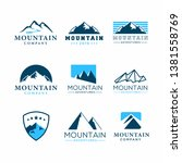 set of mountain adventure logo... | Shutterstock .eps vector #1381558769
