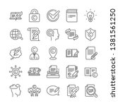 copywriting book line icons.... | Shutterstock .eps vector #1381561250