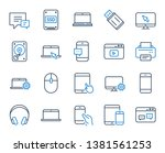 mobile device line icons.... | Shutterstock .eps vector #1381561253