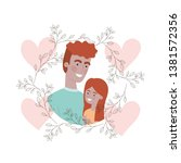 father with daughter avatar... | Shutterstock .eps vector #1381572356