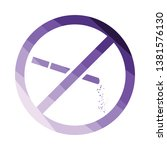 no smoking icon. flat color...