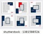 editable modern minimal square... | Shutterstock .eps vector #1381588526
