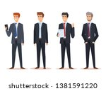 set executive businessmen with... | Shutterstock .eps vector #1381591220