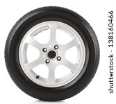 Stock photo car wheel on white background 138160466