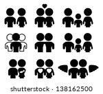 family relations silhouette set | Shutterstock .eps vector #138162500
