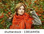 Beautiful Woman In Autumn...