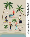 creative vector illustration on ... | Shutterstock .eps vector #1381644740