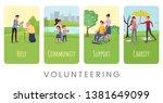 Volunteering Flat Vector Banne...