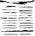 grunge brushes. check my...   Shutterstock .eps vector #13816492