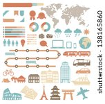 tourism infographic set with... | Shutterstock .eps vector #138165860