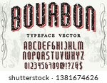 font alphabet script typeface... | Shutterstock .eps vector #1381674626