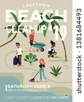 catchy beach cleanup event... | Shutterstock .eps vector #1381684493