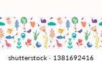 Nature Cut Out Shapes. Vector...