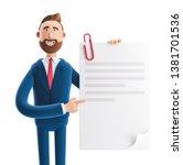 handsome cartoon character... | Shutterstock . vector #1381701536