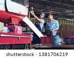 aircraft mechanics in the... | Shutterstock . vector #1381706219