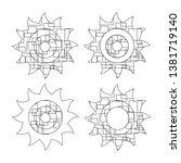 abstract the sun  the contour... | Shutterstock .eps vector #1381719140