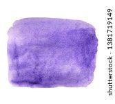 purple watercolor blot on a... | Shutterstock . vector #1381719149