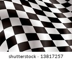 Checkered Flag Bellowing In Th...