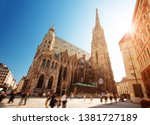 view to st. stephen's cathedral ... | Shutterstock . vector #1381727189