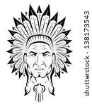 american indian chief | Shutterstock .eps vector #138173543