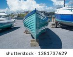 row boat bow front end. teal... | Shutterstock . vector #1381737629