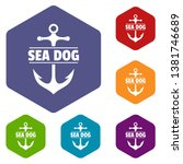 pirate anchor icons vector... | Shutterstock .eps vector #1381746689