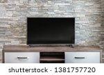 living room interior background ... | Shutterstock . vector #1381757720