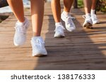 group of people walking on... | Shutterstock . vector #138176333