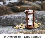 sand running through the shape... | Shutterstock . vector #1381788806