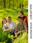 teenage friends having fun  in... | Shutterstock . vector #138187490